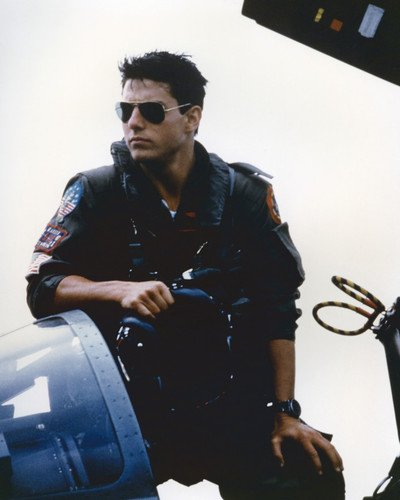 Tom Cruise in Top Gun Iconic in sunglasses Fighter Jet cockpit 11x14 Promotional ()