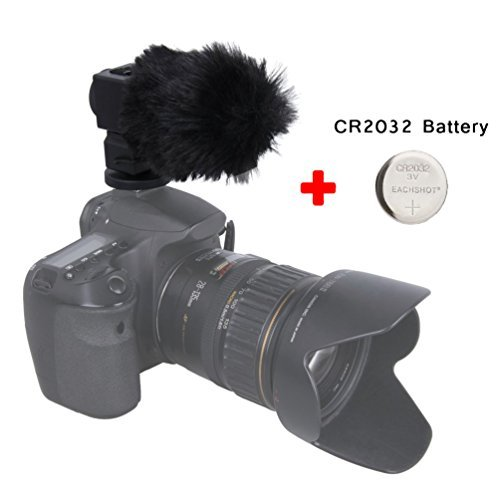 TAKSTAR SGC-698 Photography Interview Recording Microphones MIC for Nikon Canon Camera DSLR DV Camcorder Comes With EACHSHOT® CR2032 Button Battery