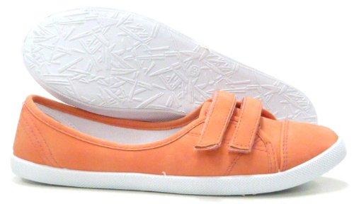 Schuh-City Damen Slipper Sportliche Ballerina Sommer Freizeit Sneaker Damenschuhe Coral