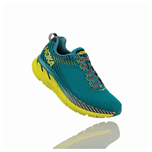 HOKA ONE ONE Men's Clifton 5 Running Shoes, Carribean Sea/Storm Blue, Size 8.5 D US