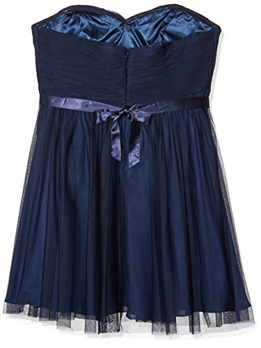 amp; MC162155 Knielang Bow Mascara Gown Nett Damen Party Abendkleider Marineblau Blau EpZw70q