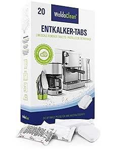 WoldoClean Pastillas descalcificadoras 20x 16g para máquinas de café - Totalmente automáticas compatibles con Todas Las máquinas de café