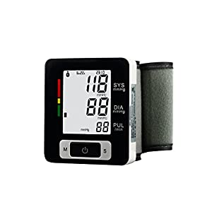 Fam-health Portable Wrist Blood Pressure Monitor FDA Approved with Large Display, Two User Modes, Adjustable Wrist Cuff,IHB Indicator and 90 Memory Recall