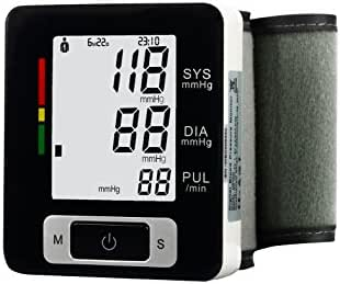 Ekano Automatic Wrist Blood Pressure Monitor FDA Approved with Portable Case, Two User Modes, Adjustable Wrist Cuff,IHB Indicator and 90 Memory Recall [2019 New Version] 7203