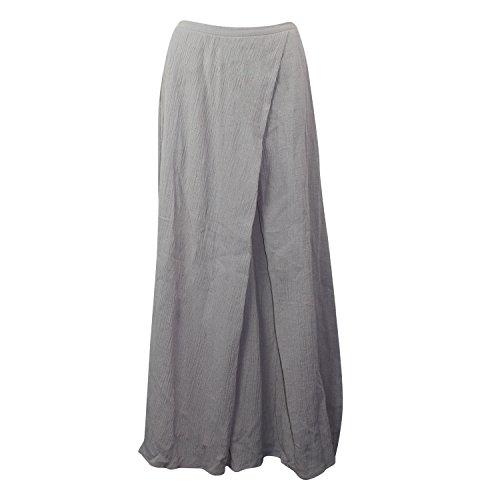 Lulu Womens Indigo Skirt Grey Medium (Flat Front Linen Skirt)