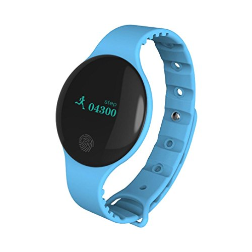 Price comparison product image Bluetooth Sport Smart Watch Bracelet Pedometer Camera Tracker For Android IOS with Silica Gel Band (Blue)