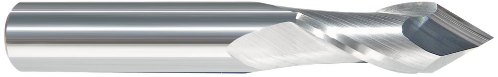 Drill Mill Carbide End Mill 208-000250 1//4-2FL-90-Deg