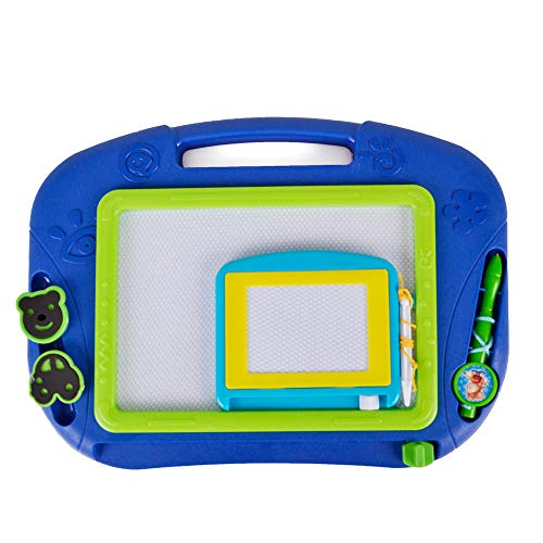 Magnetic Drawing Board Educational Toy - 2 Pieces Erasable Doodle Sketch Writing Board for Toddler Step by Step Learn and Write by Hanmun ()