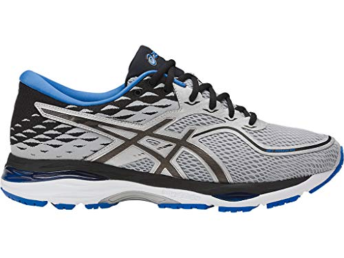 ASICS Mens Gel-Cumulus 19 Running Shoe, Grey/Black/Directoire Blue, 12 Medium US