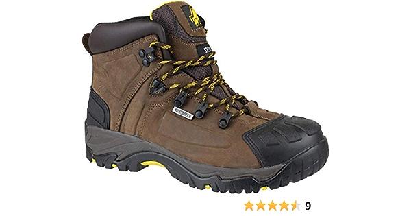 Amblers FS39 Waterproof Safety Mens Brown Steel Toe Cap Boots Shoes UK6-15