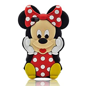 Disney 3D Cute Cartoon Mouse Soft Silicone Case Cover for Apple iPhone 5 (Mickey Mouse - 02)
