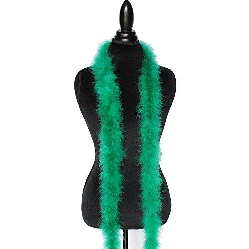 - Cynthia's Feathers Marabou Feather Boa 6 Feet Long 22 Grams Crafting Sewing Trim Hair Bows Wedding Halloween Costume (Emerald Green)