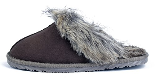 Coton Mixte Chaussures Flat Chaussons Unisex Shoes Adulte Anti Ageemi Café 8FqwUtnYx