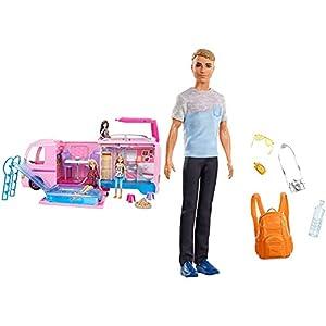 41qukv2tdLS. SS300 Barbie FBR34 - Super Abenteuer Camper, Puppen Camping Wohnwagen mit Zubehör, Mädchen Spielzeug ab 3 Jahren & GHL93 - 3…
