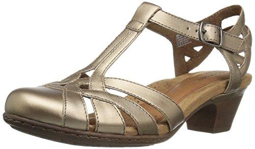 - Cobb Hill Women's Aubrey-CH Heeled Sandal, Pewter, 8.5 M