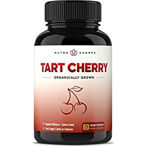 Gut Health Shop 41qulr5wSHL._SS300_ Organic Tart Cherry Concentrate - 1000mg Premium Uric Acid Cleanse Supplement - Cherry Juice Extract Powder Pills for…