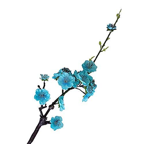 litymitzromq Artificial Flowers Fake Plants, 1Pc Artificial Plum Blossom Silk Flower Home Shop Cafe Hotel Stage Party Decor Faux Fake Flowers Floral ()