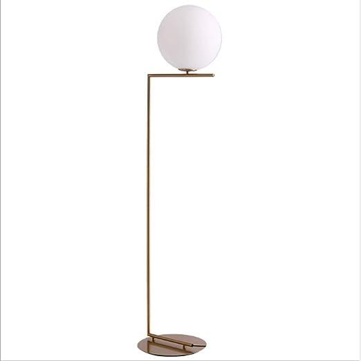 Towero Lámpara de pie LED tipo globo de vidrio esmerilado - Mediados de siglo, lámpara de pie