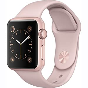Apple Watch Series 1 38mm Smartwatch (Rose Gold Aluminum Case with Pink Sand Sport Band)