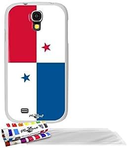 """Carcasa Flexible Ultra-Slim SAMSUNG GALAXY S4 ADVANCE de exclusivo motivo [Bandera Panamá] [Blanca] de MUZZANO  + 3 Pelliculas de Pantalla """"UltraClear"""" + ESTILETE y PAÑO MUZZANO REGALADOS - La Protección Antigolpes ULTIMA, ELEGANTE Y DURADERA para su SAMSUNG GALAXY S4 ADVANCE"""