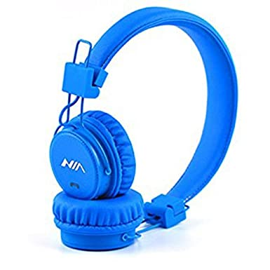 GranVela XP1 plegable On-Ear auriculares inalámbricos Bluetooth Apoyo reproductor de micro sd tarjeta Bluetooth, micrófono con radio FM integrada, regalo, ...