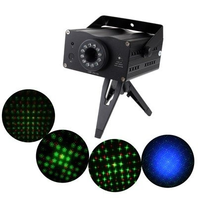 stage lighting 2-Colors Mini Disco DJ Club Stage Light with Sound Active Function