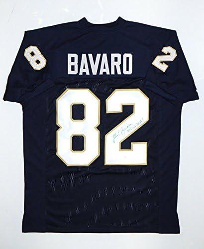 Mark Bavaro Go Irish Autographed Blue College Style Jersey- JSA W ...