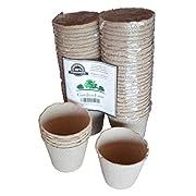 Peat Pots Gardening Accessories, Garden Kits, Gardening Tools, Perfect for Garden Planters, Zen Gardens, Garden Hoses, Perfect for Planter Tray, Window Garden, and Seedlings for Superfood (50 Count)