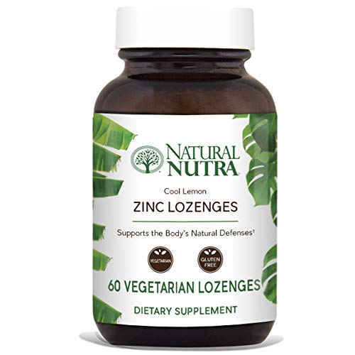 Natural Nutra Zinc Lozenges with Vitamin C, Lemon Flavor, Immune Support and Sore Throat Relief, Fortified with Bioflavonoids and Bee Propolis, Sublingual Zinc Gluconate, 60 Vegetarian Zinc Melts