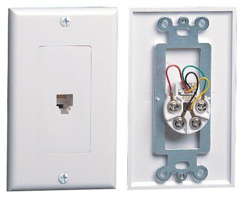 Leviton C2449-W Decora Telephone Wallplate, White ()