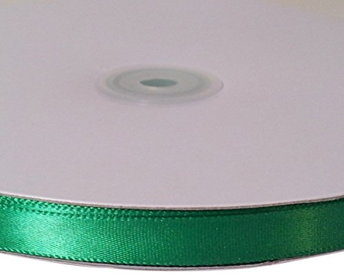 Firefly Imports Homeford Single Face Satin Ribbon, 1/4-Inch/100-Yard, Emerald Green