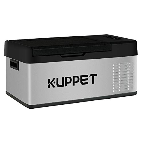 KUPPET Portable Refrigerator/Freezer 16Qt, Car Fridge, Electric Cooler for for Truck Party, Travel, Picnic Outdoor, Camping