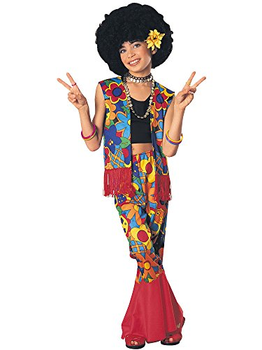 Hippie Flower Child Costume - Girl's Flower Power Hippie Costume LARGE