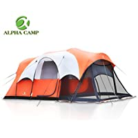 ALPHA CAMP 6 Person Tent with Screen Room Cabin Tent...