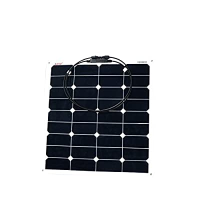 ALEKO 50W 50-Watt Semi Flexible Solar Monocrystalline Panel 12V Solar Module Power System