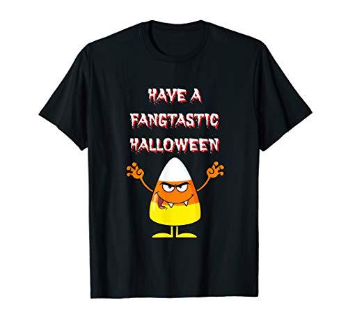 Have A Fangtastic Halloween Shirt Candy Corn Vampire Kids -