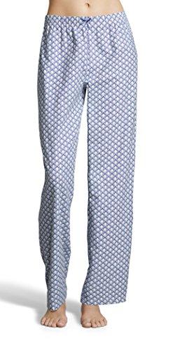 Kathy Ireland Womens Diamond Print Pajama Pants with Elastic Waistband and Decorative Bow Hudson Blue Small