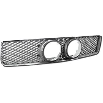 HS Power Chrome/Silver MESH Front Hood Grill Grille+Fog Lights Hole 05-09 Ford Mustang GT