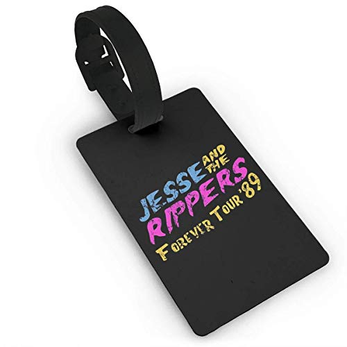 BeautyToiletLidCoverABC Jesse And The Rippers PVC Luggage Tags, Travel ID Baggage Bag Labels Size 2.2 X 3.7 inches