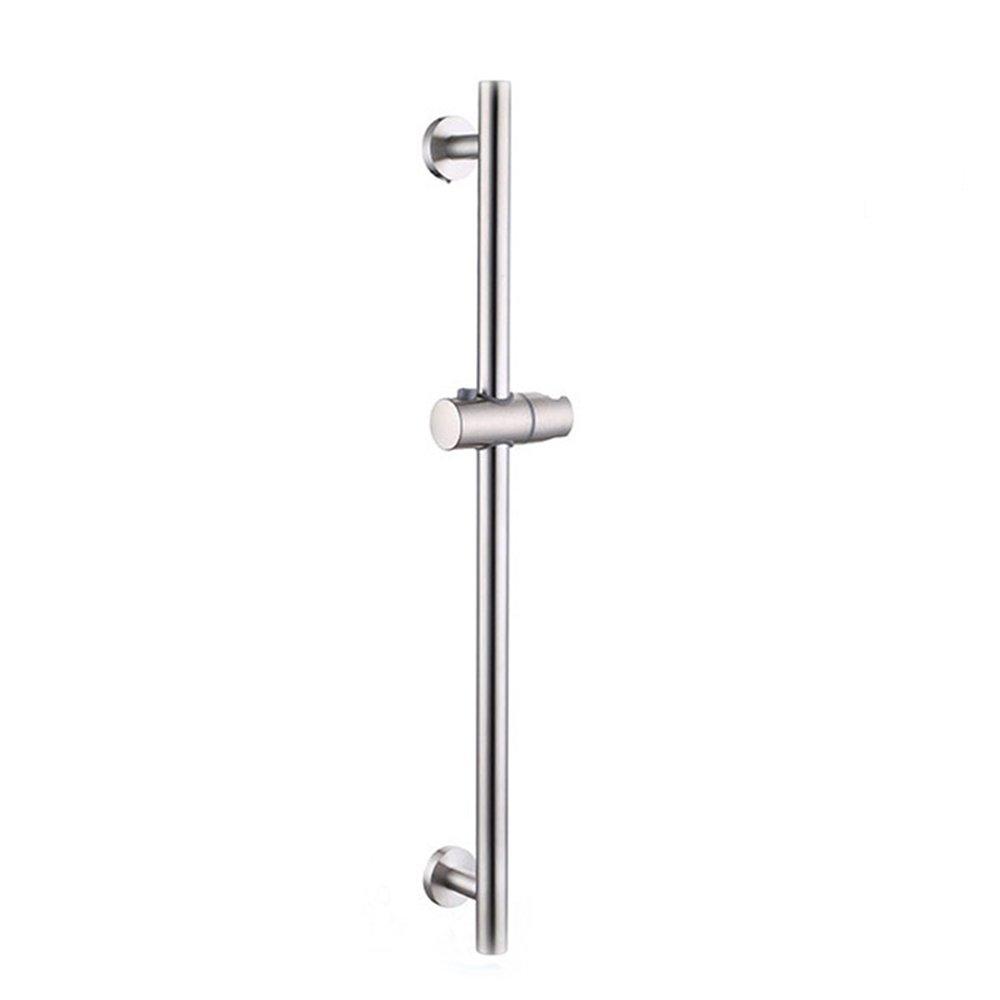 BOEN F103-2 Bathroom Adjustable Slide Bar ROUND Wall Mount, Brushed Nickel SUS 304 Stainless Steel