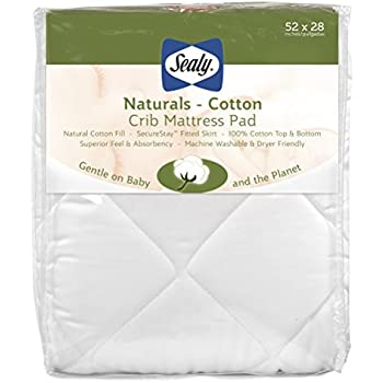 Amazon Com Sealy Naturals Cotton Fitted Crib Toddler