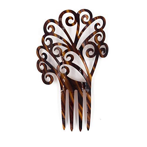 Spanish Comb - Ole Ole Flamenco Acetate Comb for Hair Flamencos Concha Brown Flamenco Dancer Spanish Combs Peineta Flamenca Marron Ornamental Hair Pins