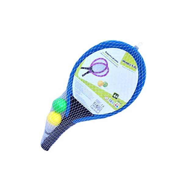 LIOOBO Set da Badminton in plastica per Bambini con 2 Racchette, Racchetta da Tennis, Gioca con Giochi da Spiaggia (Blu) 3 spesavip