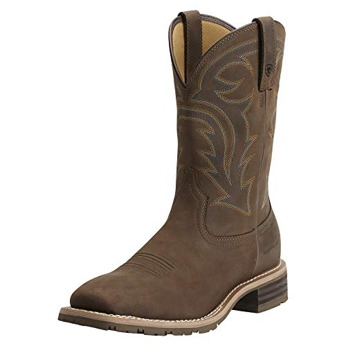 Ariat Men's Hybrid Rancher H2O Western Cowboy Boot, Oily Distressed Brown, 11 2E US