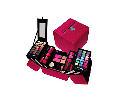 Cameo Exclusive Makeup Gift Set, 5 Layers of Eye Shadows , Lip-Glosses , Powders, Blushes, Creamy Foundation Brush and Mirror Included