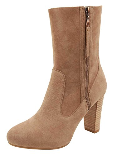 UGG Women's Athena Carmel Leather/Suede Boot 9 B - Pull Cuffed