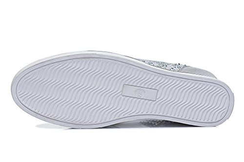 Shoe Loafer Silver Shoe Breathable Gauze Mesh Womens GUCIHEAVEN Flat Elevator F8Bxqv7
