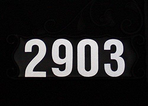 44 Reflective 4' Numbers Peel & Stick