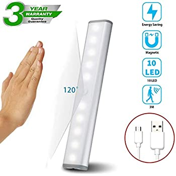 Motion Sensor Cabinet Lights Usb Rechargeable 10 Led