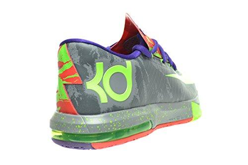 Nike Kd Vi Heren Schoenen Cool Grijs / Electric Green-bright Crimson 599424-008